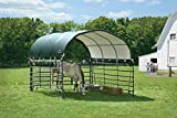 ShelterLogic 12' x 12' Corral Shelter and Livestock Shade Waterproof and UV Treated Universal Cover for Horses, Goats, and Other Livestock