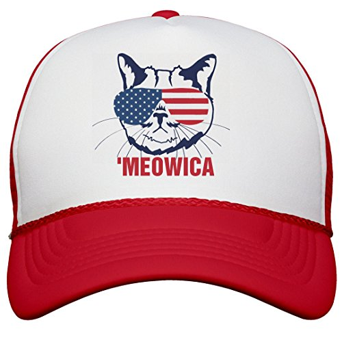 Cat Loves America Trucker Hat: Snapback Trucker Hat (Hat Cat Trucker)