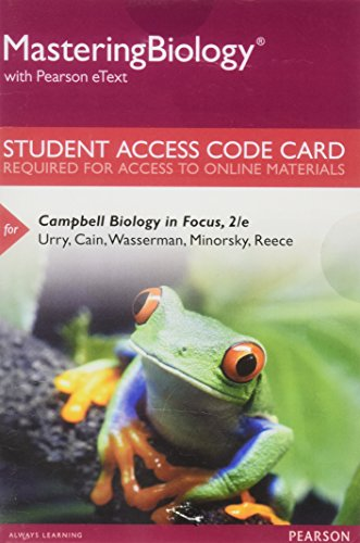 Mastering Biology with Pearson eText -- Standalone Access Card -- for Campbell Biology in Focus (2nd Edition)