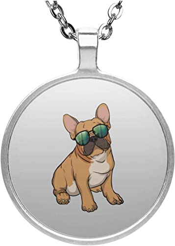"FRENCH BULLDOG NECKLACE 16/"" Box Chain Stainless Steel Pendant NEW Dog Frenchie"
