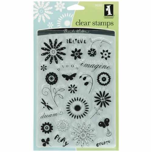 Inkadinkado Clear Stamps-Brenda Walton Garden Words