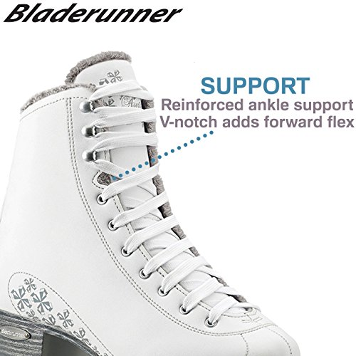 Bladerunner Ice by Rollerblade Allure Women's Adult Figure Skates, White, Ice Skates