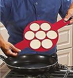 MARGUERAS Moule à 7 Mini Blinis Starflex Silicone rouge-moules à pancakes