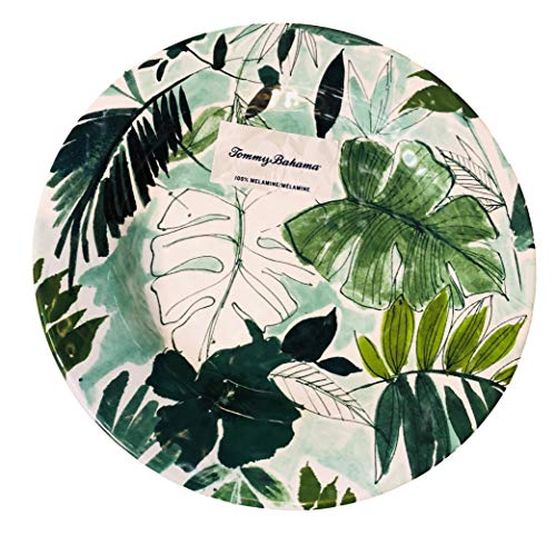 - Tommy Bahama Tropical Leaves Melamine Dinner Plates (set of 4)