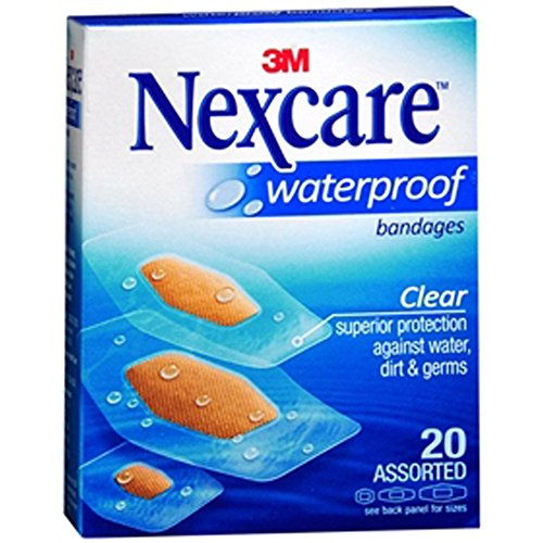 3M Nexcare Waterproof Clear Bandage, Pack of 18 by 3M