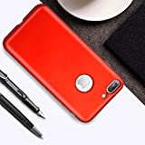 iPhone 7/8 plus Case, Ultra-Thin Case support Wireless charging, Simple Stylish Fully Protective Matt Cover for Apple iPhone 7 plus/iPhone 8 plus – red (red, 7 plus)