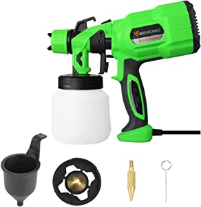SINPPA Paint Sprayer, 650 Watt High Power Home Electric Spray Gun, 3 Nozzle Sizes, Lightweight, Easy Spraying and Cleaning Perfect for Tables, Chairs, Fences, Interior Walls and Crafts