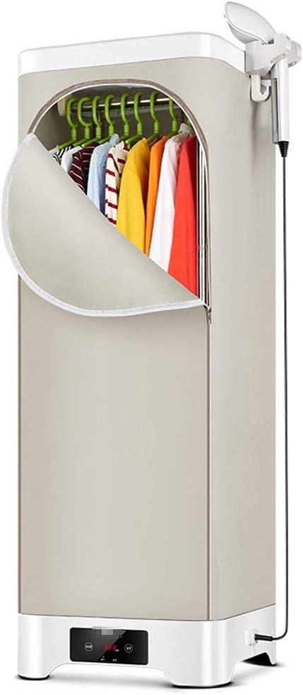 Secadora de ropa y máquina de planchado, percha de elevación plegable de doble capa Aire caliente de secado rápido se puede termostatizar para máquina de uso doméstico de ropa de doble uso, carga 30kg