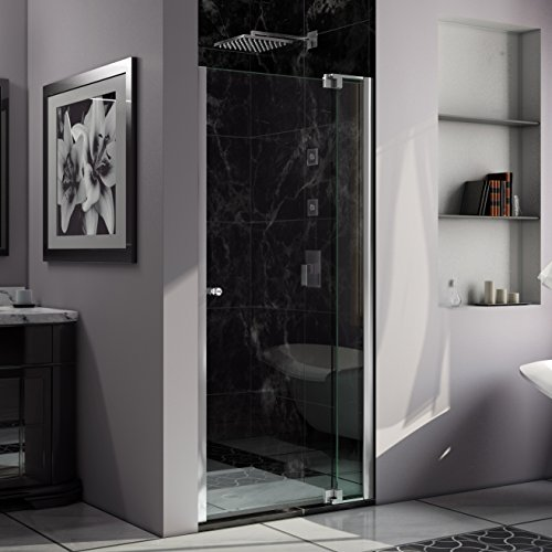 DreamLine Allure 40-41 in. Width, Frameless Pivot Shower Door, 3/8'' Glass, Chrome Finish by DreamLine