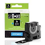 DYMO Standard D1 53721 Labeling Tape ( White Print on Black Tape , 1'' W x 23' L , 1 Cartridge)