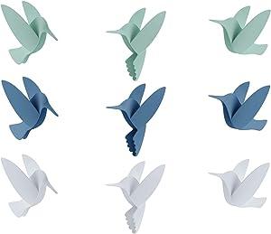 Umbra Hummingbird Wall Decor, Set of 9, Assorted