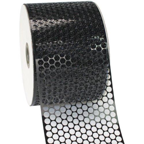Morex Ribbon Chicago Poly Honeycomb Ribbon, 3-1/4 by 55-Inch Yard Spool, Black