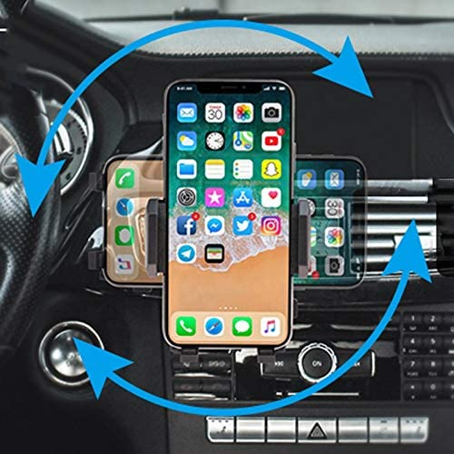 Samsung and More Universal Phone Holder Adjustable Phone Holder Universal Car Air Vent Phone Mount Clip Black Compatible with iPhone