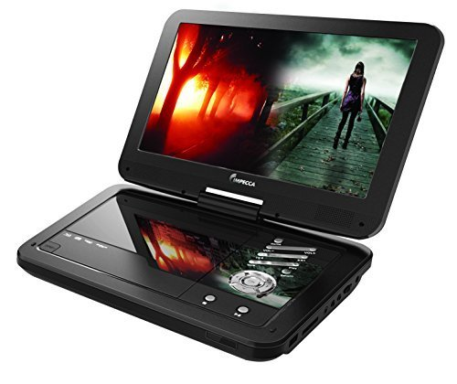 Impecca DVP1016 10.1 Inch Portable DVD Player, 6 Hour Rechargeable Battery, Swivel Screen,