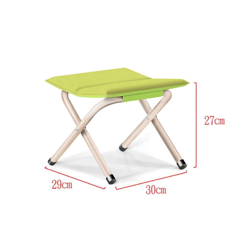 Luggage Racks- Folding metal outdoor Mazar stool Leisure fishing beach bench Multi-function home Hotel luggage rack Sofa stool Foot stool (Color : C, Size : 302927cm)