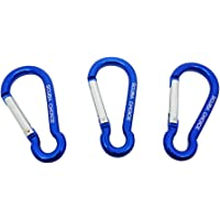 "Scuba Choice Boat Marine Aluminum Locking Clip Hook Carabiner (3 Pack), 2.7"", Blue"