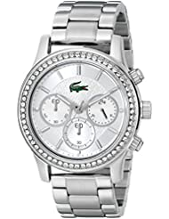 Lacoste Womens 2000833 Charlotte Silver-Tone Stainless Steel Watch