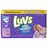 Health & Personal Care : Branded Luvs Super Absorbent Leakguards Diapers, Newborn, 40 Diapers , Weight under 10lbs - Branded Diapers with fast delivery (Soft and Comfortable for Babies)