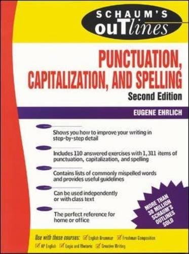 Schaum's Outline of Punctuation, Capitalization & (Capitalization And Punctuation)