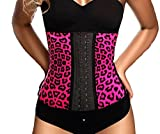 Ann Chery Women's Faja Clasica Animal Print Workout Waist Cincher, Fuchsia, Medium/34 offers