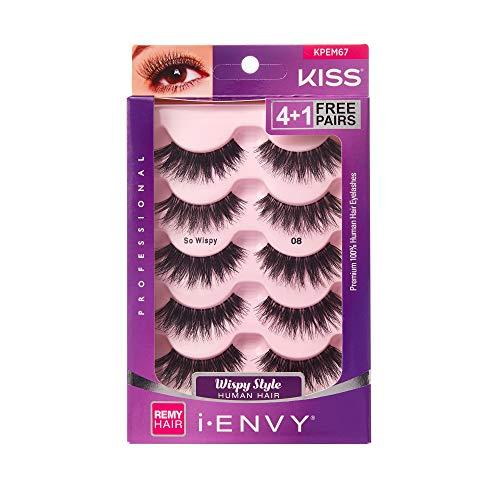 i Envy by Kiss So Wispy 08 Strip Eyelashes Value Pack #KPEM67 (Value Eyelashes Pack Kiss)