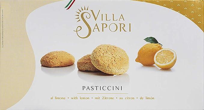Villa Sapori Pasteles Tradicionales Italianos con sabor de Limón| Pasticcini al Limón, caja de