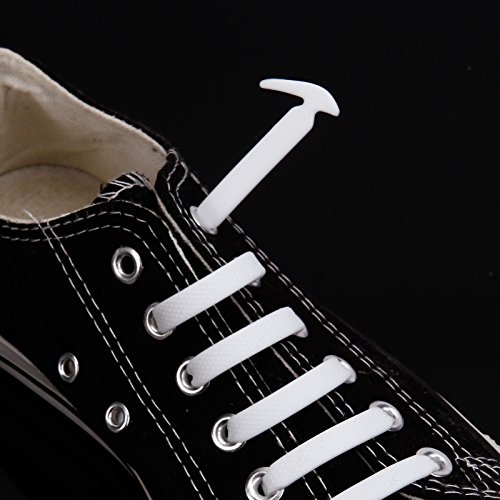 Lacets Adulte En Silicone De Chaussure 12 Blanc Enfant 7Rfddq