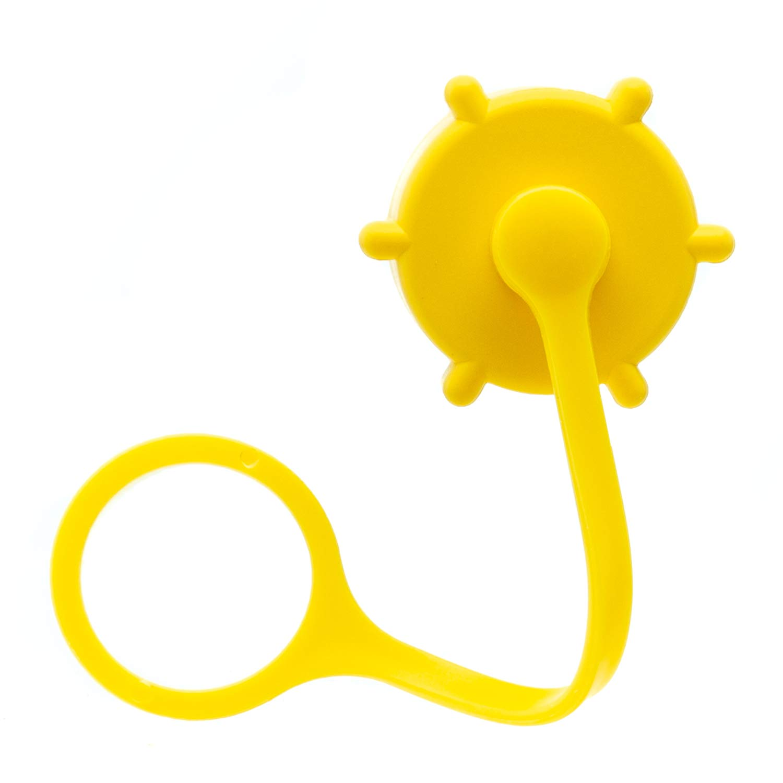 VP Racing Fuel Filler Hose Yellow Hose Cap and Yellow Replacement Vent Cap Kit