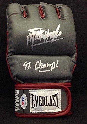 Matt Hughes Signed Everlast MMA Glove w/ 9x Champ Insc. #AA60730 - PSA/DNA Certified - Autographed UFC Gloves