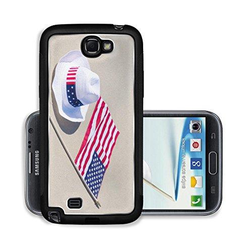 Liili Premium Samsung Galaxy Note 2 Aluminum Backplate Bumper Snap Case ID: 28028368 American holidays background on the sandy beach near the ocean