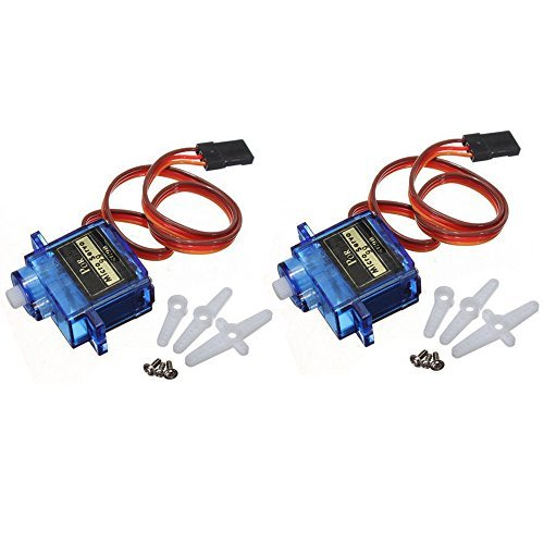 ElectroBot 2X Pcs Sg90 Micro Servo Motor 9G Rc Robot Helicopter Airplane Boat (Speed Mini Rc Servo)