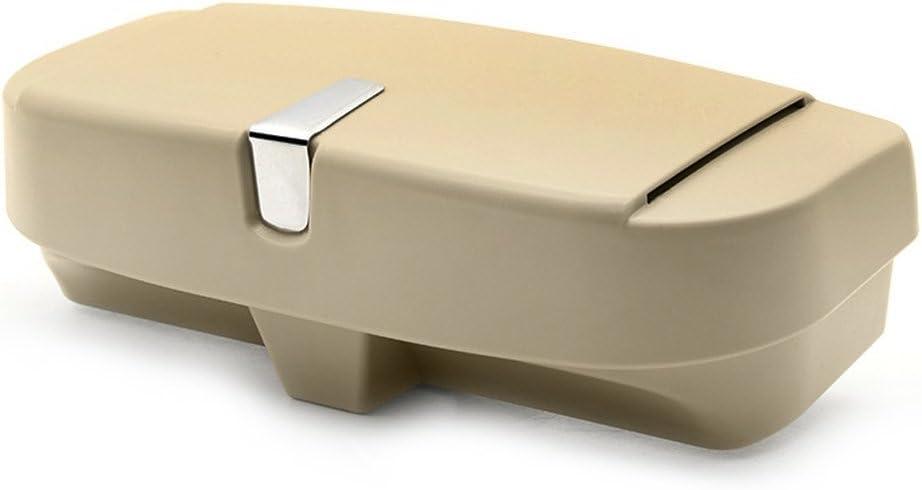 Universal Car Sonnenbrillen Aufbewahrungsbox Autoglashalter Sonnenblende Clip auf Techwills Auto Sonnenblende Brillenetui Beige