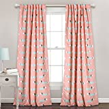 Cheap Lush Decor 16T000559 Sausage Dog Room Darkening Window Panel Curtain Set, 84″ x 52″, Pink