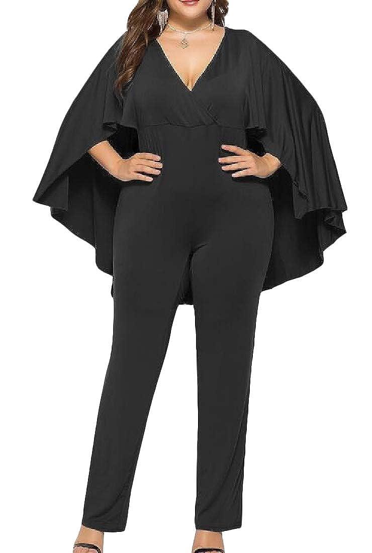 Cromoncent Womens Fashion Denim Patch Long Sleeve Mock Neck Rompers Jumpsuits
