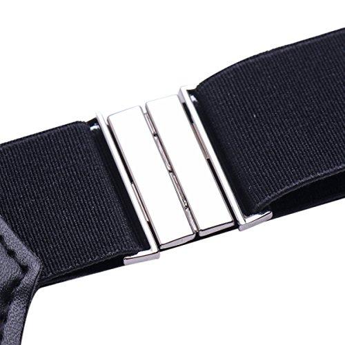2033b1538f3 iiniim Men s Non-slip Sock Garter Belt Holders Suspender Strap with Metal  Clips