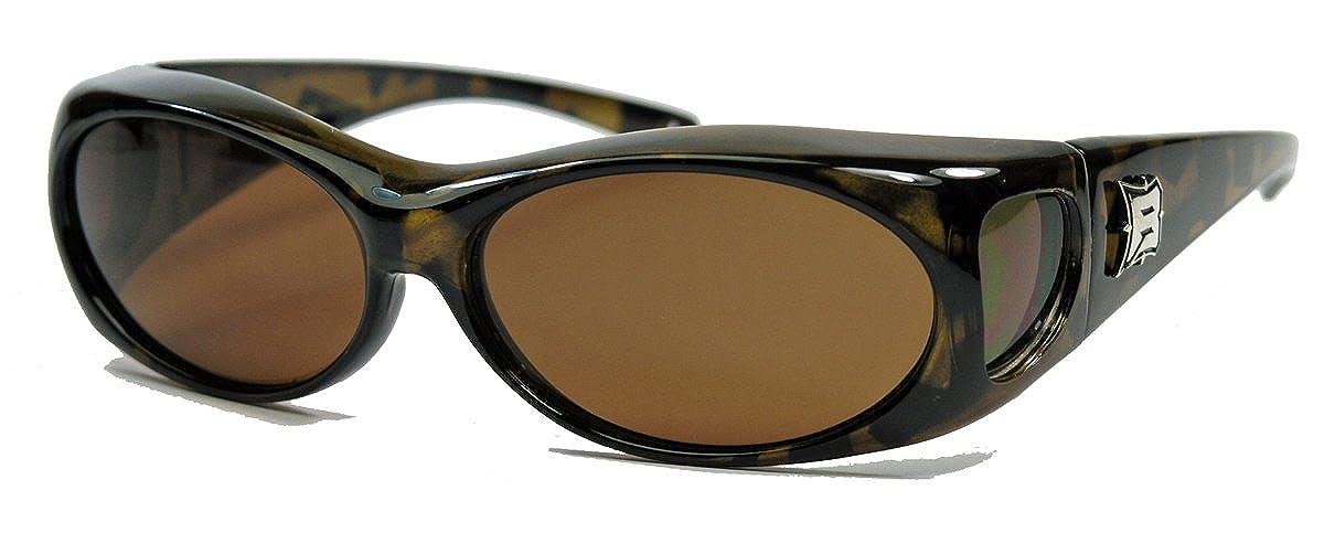 PBV Polarisierte Sonnenbrille Überbrille für Brillenträger Fit over Polbrille Herren Damen MODELLWAHL (Mod.4 : Schwarz / Smoke) W2b8HJ