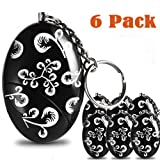 6 Pack 120db Emergency Personal Alarm Keychain for Women,Kids,Girls,Superior,Explorer Self Defense Electronic Device Bag Decoration