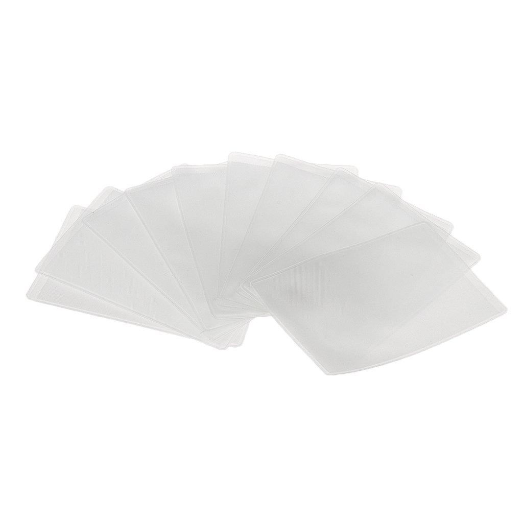 10pcs Pochettes Etuis Transparents Porte-badges ID Carte Carte de Crédit Générique