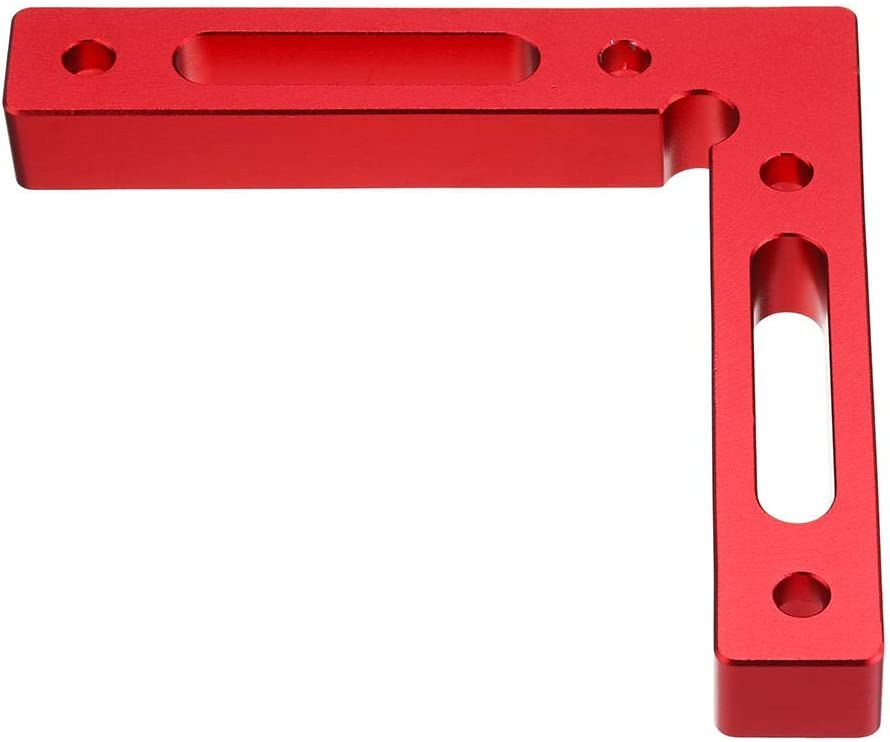 Ctghgyiki Aluminium Alloy Upgrade 90 Degree 120x120mm Precision Clamping Square Woodworking Machinist Square Positioning Right Angle Clamping Measure Woodworking Tools