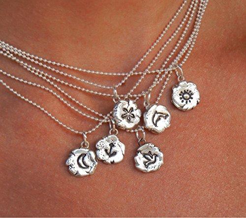 ewelry, Bird Necklace, Handmade Bird Necklace, Handmade Sterling Silver Dove Necklace, DOVE Jewelry for Peace, You Pick Design ()