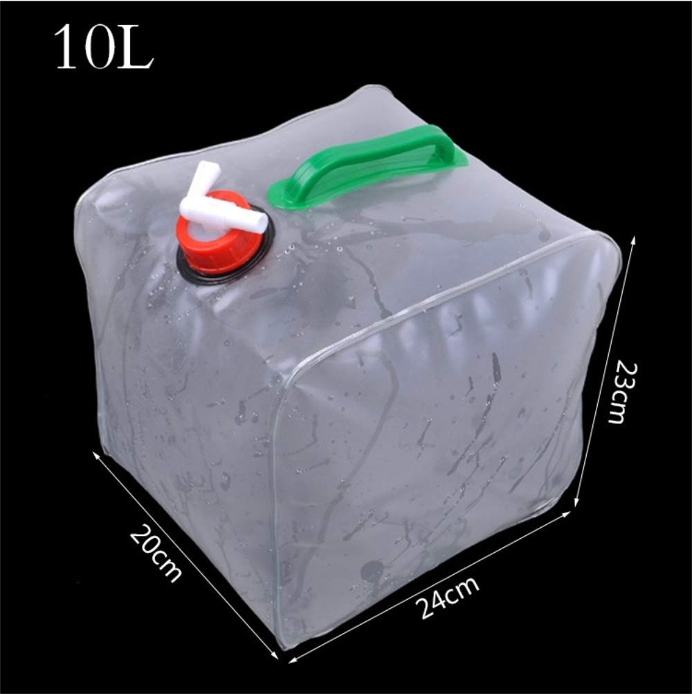 ASTARC Collapsible Water Container with Spigot 10L Outdoor 10L Camping Water Storage Bag Collapsible Bucket Car Water Bag Auto Supplies Fishing Bucket