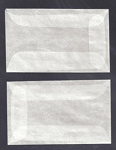 Box of 1000 #1 Glassine Envelopes Measuring 1 3/4 X 2 7/8 Inches
