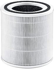 TaoTronics Air Purifier Replacement TT-AP005, 3-in-1 H13 HEPA Filter, White
