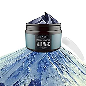 Olaxer SC006 Deep Cleansing Volcanic Mud Mask 7.05 oz Skin Cleaner, Facial Treatment, Acne Treatment, Pore Reducer, Anti Aging Mask, Pore Minimizer