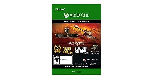 Amazon com: World of Tanks Premium Starter Pack - Xbox One