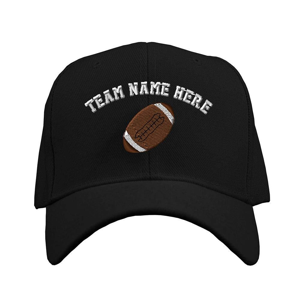 0d2bfeff828 Custom Baseball Hat Sport Football Ball Logo B Embroidery Team Structured  Cap at Amazon Men s Clothing store