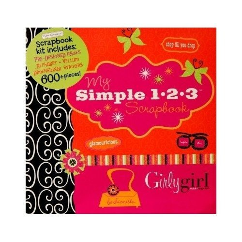 Paper Boutique My Simple 1-2-3 Scrapbook Kit Girly Girl 600 Piece by Paper Boutique