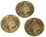 Antique Finished Armor of God High Relief Challenge Coin (3 pack)