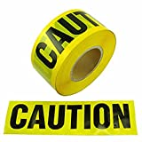 Lot of 4 Rolls- New - 3'' X 1000` Caution Barricade Tape