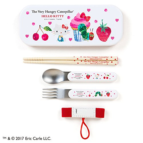 [Sanrio Hello Kitty × The Very Hungry Caterpillar belt with lunch trio Heart From Japan New] (Famous Trios Costumes)